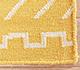 Jaipur Rugs - Flat Weave Wool Gold DW-121 Area Rug Closeupshot - RUG1032759
