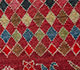 Jaipur Rugs - Hand Knotted Wool and Bamboo Silk Red and Orange LES-395 Area Rug Closeupshot - RUG1091223
