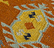 Jaipur Rugs - Flat Weave Wool Red and Orange PDWL-356 Area Rug Closeupshot - RUG1098479