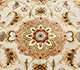 Jaipur Rugs - Hand Knotted Wool and Silk Ivory QNQ-10 Area Rug Closeupshot - RUG1023403