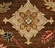 Jaipur Rugs - Hand Knotted Wool Beige and Brown SPR-01 Area Rug Closeupshot - RUG1074966