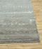 Jaipur Rugs - Hand Knotted Wool and Bamboo Silk Grey and Black CX-2662 Area Rug Cornershot - RUG1081542