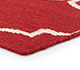 Jaipur Rugs - Flat Weave Wool Red and Orange DW-119 Area Rug Cornershot - RUG1060327