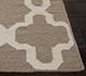Jaipur Rugs - Flat Weaves Wool Beige and Brown DW-138 Area Rug Cornershot - RUG1038778