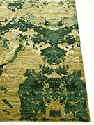 Jaipur Rugs - Hand Knotted Wool and Bamboo Silk Green ESK-405 Area Rug Cornershot - RUG1053749