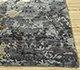 Jaipur Rugs - Hand Knotted Wool and Bamboo Silk Grey and Black ESK-406 Area Rug Cornershot - RUG1088411