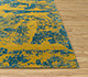 Jaipur Rugs - Hand Knotted Wool and Bamboo Silk Gold ESK-431 Area Rug Cornershot - RUG1081293