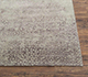 Jaipur Rugs - Hand Knotted Wool and Bamboo Silk Grey and Black ESK-603 Area Rug Cornershot - RUG1074662