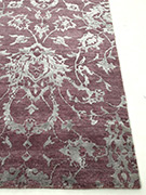 Jaipur Rugs - Hand Knotted Wool and Bamboo Silk Pink and Purple ESK-623 Area Rug Cornershot - RUG1053519