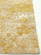 Jaipur Rugs - Hand Knotted Wool and Bamboo Silk Beige and Brown ESK-632 Area Rug Cornershot - RUG1057262