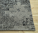 Jaipur Rugs - Hand Knotted Wool and Bamboo Silk Grey and Black ESK-661 Area Rug Cornershot - RUG1094491