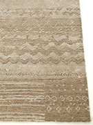 Jaipur Rugs - Hand Knotted Wool and Bamboo Silk Grey and Black ESK-663 Area Rug Cornershot - RUG1057272
