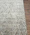 Jaipur Rugs - Hand Knotted Wool and Bamboo Silk Grey and Black ESK-724 Area Rug Cornershot - RUG1078398
