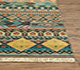Jaipur Rugs - Hand Knotted Wool and Bamboo Silk Blue LES-209 Area Rug Cornershot - RUG1075319