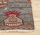 Jaipur Rugs - Hand Knotted Wool and Bamboo Silk Blue LES-250 Area Rug Cornershot - RUG1082979