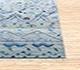 Jaipur Rugs - Hand Knotted Wool and Bamboo Silk Blue LES-252 Area Rug Cornershot - RUG1082985