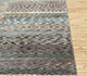 Jaipur Rugs - Hand Knotted Wool and Bamboo Silk Grey and Black LES-322 Area Rug Cornershot - RUG1086017