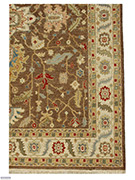 Jaipur Rugs - Hand Knotted Wool Beige and Brown MAKT-16 Area Rug Cornershot - RUG1025065