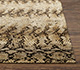 Jaipur Rugs - Hand Knotted Wool and Silk Beige and Brown NMS-15 Area Rug Cornershot - RUG1087411