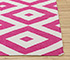 Jaipur Rugs - Flat Weaves Cotton Pink and Purple PDCT-66 Area Rug Cornershot - RUG1086698