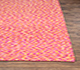 Jaipur Rugs - Flat Weave Wool and Viscose Pink and Purple PDWV-25 Area Rug Cornershot - RUG1075464
