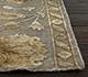 Jaipur Rugs - Patchwork Wool and Silk Grey and Black PSK-952 Area Rug Cornershot - RUG1054537