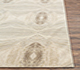 Jaipur Rugs - Hand Knotted Wool and Silk Ivory QM-167 Area Rug Cornershot - RUG1072740