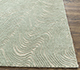 Jaipur Rugs - Hand Knotted Wool and Silk Ivory QM-702 Area Rug Cornershot - RUG1085254