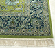 Jaipur Rugs - Hand Knotted Wool and Silk Green QNQ-10 Area Rug Cornershot - RUG1068817