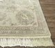 Jaipur Rugs - Hand Knotted Wool and Silk Ivory QNQ-21 Area Rug Cornershot - RUG1077117