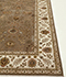 Jaipur Rugs - Hand Knotted Wool and Silk Beige and Brown QNQ-39 Area Rug Cornershot - RUG1023398