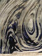 Jaipur Rugs - Hand Knotted Wool and Silk Grey and Black SKRT-804 Area Rug Cornershot - RUG1035812