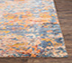 Jaipur Rugs - Hand Knotted Wool and Bamboo Silk Blue SRB-705 Area Rug Cornershot - RUG1074521