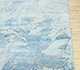 Jaipur Rugs - Hand Knotted Wool and Bamboo Silk Blue SRB-706 Area Rug Cornershot - RUG1075435