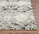 Jaipur Rugs - Hand Tufted Wool and Viscose Grey and Black TAQ-4044 Area Rug Cornershot - RUG1071837