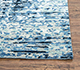Jaipur Rugs - Hand Knotted Wool and Bamboo Silk Blue USL-155 Area Rug Cornershot - RUG1101125