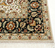 Jaipur Rugs - Hand Knotted Wool and Silk Beige and Brown QNQ-16 Area Rug Cornershot - RUG1055605