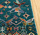 Jaipur Rugs - Hand Knotted Wool and Bamboo Silk Blue LES-443 Area Rug Cornershot - RUG1092483