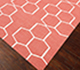 Jaipur Rugs - Flat Weave Wool Pink and Purple DW-117 Area Rug Floorshot - RUG1060542