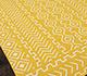 Jaipur Rugs - Flat Weave Wool Gold DW-121 Area Rug Floorshot - RUG1032759