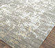 Jaipur Rugs - Hand Knotted Wool and Bamboo Silk Grey and Black ESK-411 Area Rug Floorshot - RUG1065332