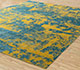 Jaipur Rugs - Hand Knotted Wool and Bamboo Silk Gold ESK-431 Area Rug Floorshot - RUG1081293