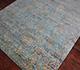 Jaipur Rugs - Hand Knotted Wool and Bamboo Silk Blue ESK-632 Area Rug Floorshot - RUG1036434