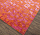 Jaipur Rugs - Hand Knotted Wool and Bamboo Silk Red and Orange ESK-680 Area Rug Floorshot - RUG1074669