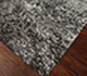Jaipur Rugs - Hand Knotted Wool and Bamboo Silk Grey and Black ESK-701 Area Rug Floorshot - RUG1034643