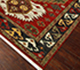 Jaipur Rugs - Hand Knotted Wool Red and Orange LCA-2351 Area Rug Floorshot - RUG1063973