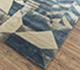 Jaipur Rugs - Hand Tufted Wool and Viscose Blue LEQ-07 Area Rug Floorshot - RUG1081332