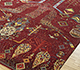 Jaipur Rugs - Hand Knotted Wool and Bamboo Silk Red and Orange LES-389 Area Rug Floorshot - RUG1091228