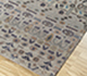 Jaipur Rugs - Hand Knotted Wool and Bamboo Silk Grey and Black LES-421 Area Rug Floorshot - RUG1092472