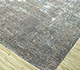 Jaipur Rugs - Hand Knotted Wool and Bamboo Silk Grey and Black LRB-1502 Area Rug Floorshot - RUG1086288